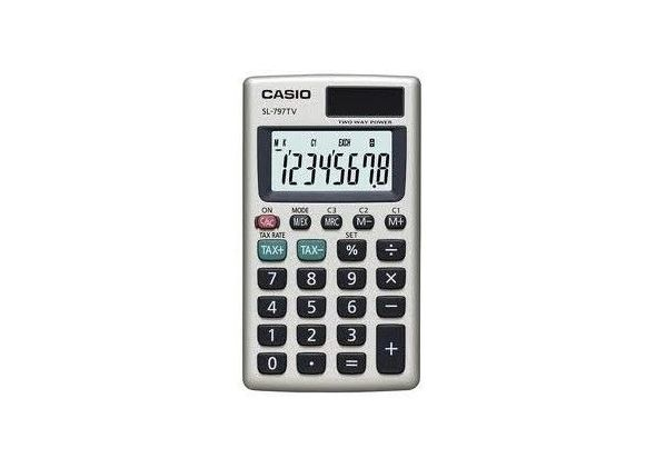 Casio SL797TVGD-R Portable Type Calculator
