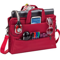 "Rivacase 15.6"" Laptop Bag, Red"