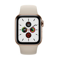 Apple Watch Series 5 44mm Gold Stainless Steel Case with Sport Band, GPS+ Cellular