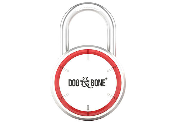 Dog & Bone LockSmart Bluetooth Padlock, Silver