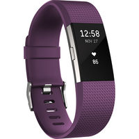 Fitbit Charge 2 Fitness Wristband Large, Plum