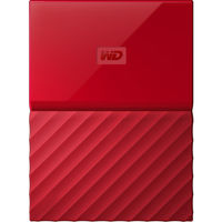 WD 1TB My Passport USB 3.0 Secure Portable Hard Drive, Red