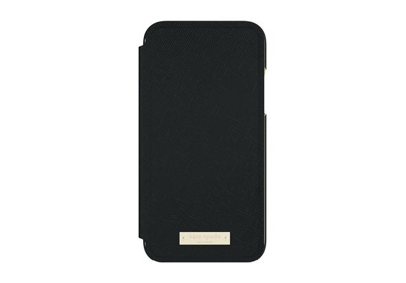 Kate Spade New York Folio Case for iPhone X, Saffiano Black