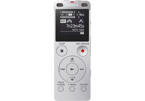 Sony ICDUX560F Digital Voice Recorder with Built-in USB, Silver