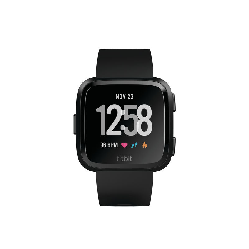 Fitbit Versa Fitness Watch, Black Aluminum