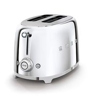 Smeg TSF01SSUK 2 Slice Toaster, Chrome