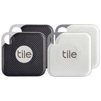 Tile Pro with Replaceable Battery 4 Pack, Black/White