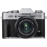 FUJIFILM X-T20 Mirrorless Digital Camera with XC 15-45mm Lens,  Silver