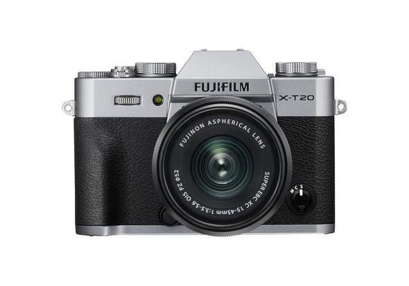 FUJIFILM X-T20 Mirrorless Digital Camera with XC 15-45mm Lens,  Silver