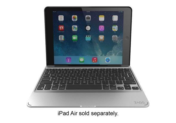 Zagg Folio Slim Keyboard Case for Apple iPad Air 2, Black