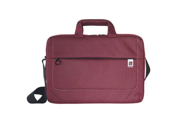 Tucano Loop Large Slim Bag for 15  Ultrabook and 15.6  Notebook, Burgundy