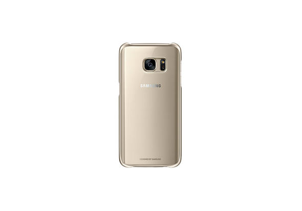 Samsung Galaxy S7 Clear Back Cover Gold
