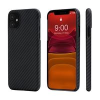 Pitaka MagEZ Case for iPhone 11, Black/Grey (Twill)