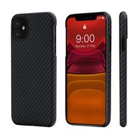 Pitaka MagEZ Case for iPhone 11, Black/Grey (Twill)
