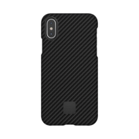 Happy Plugs Protective Case for iPhone X, Carbon Fiber