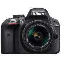 Nikon D3300 DSLR Camera With AF-P 18-55 GT, Black
