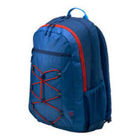 "HP 15.6"" Active Backpack, Marine Blue/Coral Red"