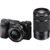 Sony Alpha a6100 Mirrorless Digital Camera with 16-50mm and 55-210mm Lense