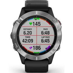 Garmin Fenix 6 Multisport GPS Watch, Silver/Black