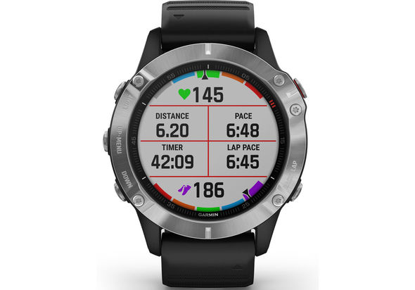 Garmin Fenix 6 Multisport GPS Watch, Silver/Black