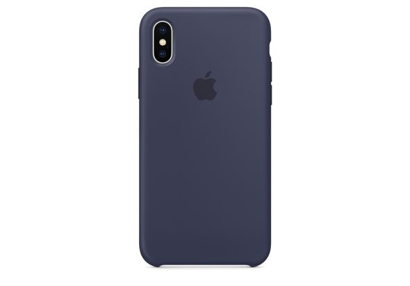 Apple iPhone X Silicone Case, Midnight Blue