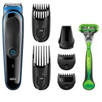 Braun MGK3040– 7-in-1 Beard / Hair Multi Grooming Kit Trimmer with Gillette Body Razor