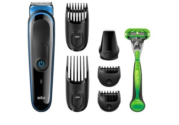 Braun MGK3040– 7-in-1 Beard / Hair Multi Grooming Kit Trimmer with Gillette Body Razor