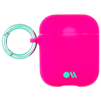 Case Mate Airpods Hook Ups Case and Neck Straps,  Fuchsia Dark Pink