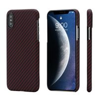 Pitaka MagEZ Case for iPhone Xs Max, Black/Red (Twill)