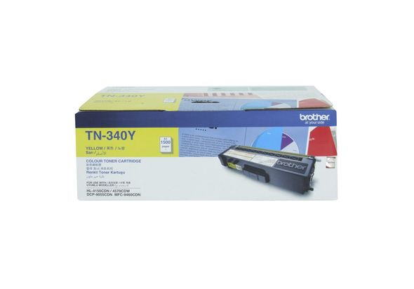 Brother TN340Y Yellow Toner Cartridge 1500Pages