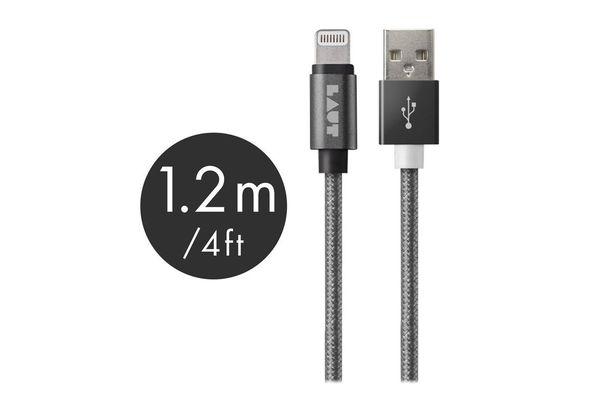 Laut 1.2M Lightning Cable Metallic, Space Grey