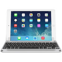 """Brydge 10.5 Bluetooth Keyboard for 10.5"""" iPad Pro and iPad Air 2019 English and Arabic, Silver"""