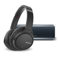 Sony WH-CH700N Wireless Noise-Canceling Over-Ear Headphones with Sony SRS-XB21 Portable Bluetooth Speaker