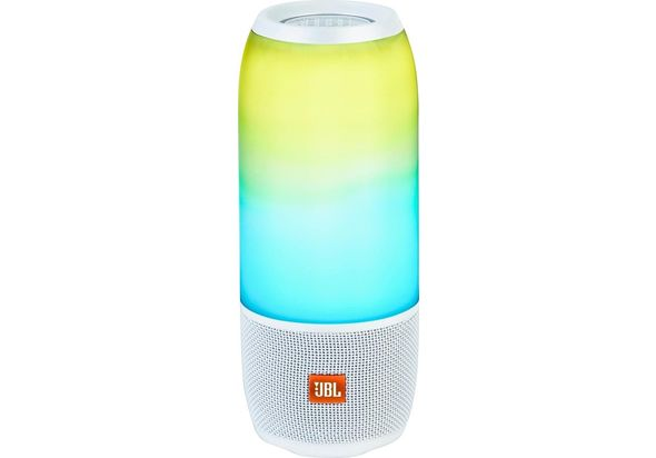 JBL Pulse 3 Portable Bluetooth Speaker, White