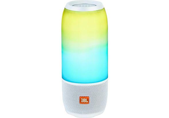 JBL Pulse 3 Portable Bluetooth Speaker, White