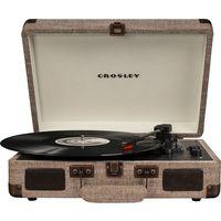 Crosley CR8005D-HA4 Cruiser Deluxe Turntable with Speaker, Havana Fabric - CH
