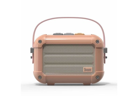 Divoom Macchiato Retro Portable Wireless Bluetooth Speaker, Royal Pink