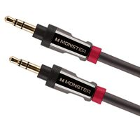 Monster 3.5mm Stereo/Mobile Audio Cable, 4′ Black/Dull