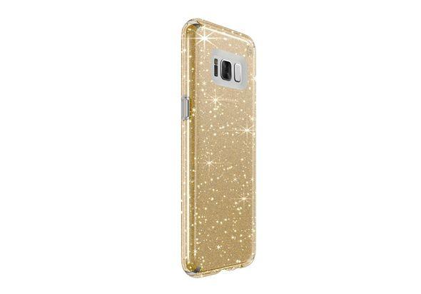 Speck Presidio Clear Case for Samsung Galaxy S8+ , Gold Glitter/Clear