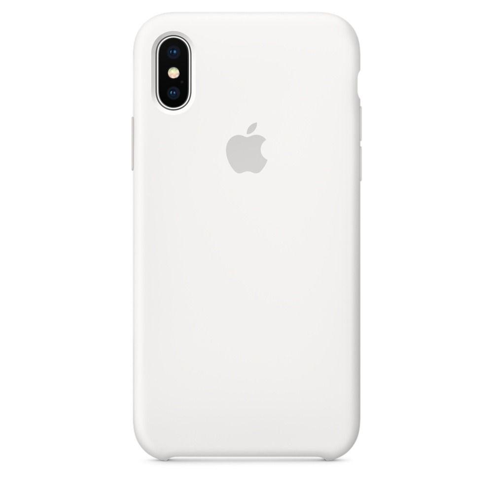 غطاء هاتف آيفون Apple iPhone X, أبيض - سيليكون, أطلبة مسبقاً