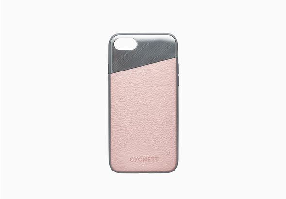 iPhone 8 Plus Leather Case in Pink Sand
