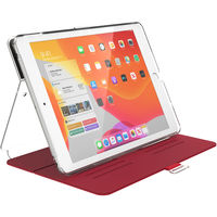 Speck 133537-8224 BalanceFolio Clear iPad 10.2 Inch Case and Stand (2019) HEARTRATE RED/CLEAR