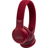 JBL Live 400BT Wireless Over Ear Headphones,  Red