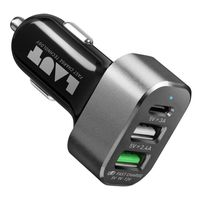 Laut Power Dash 7.8 USB Car Charger, Black