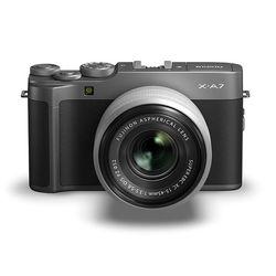 Fujifilm X-A7 Mirrorless Digital Camera with 15-45mm Lens,  Dark Silver