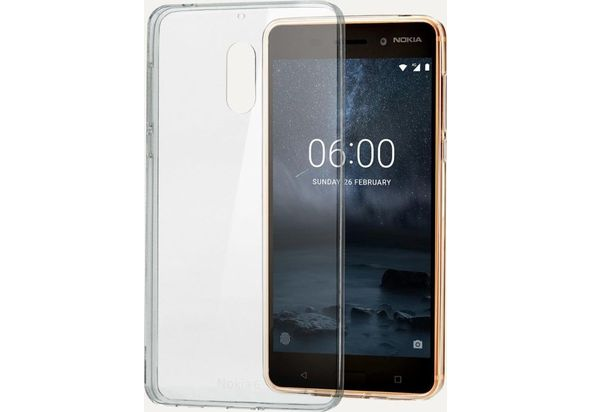 Nokia CC-101 Slim Crystal Cover for Nokia 6, Transparent