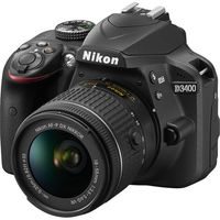 Nikon D3400 DSLR Camera With 18-55mm Lens, Black