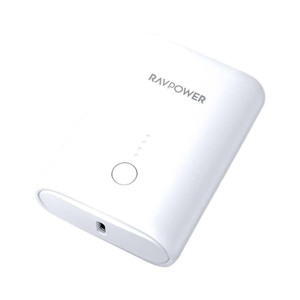 RAVPower 2-Port PD Pioneer Mini Power Bank 10000mAh 18W, White