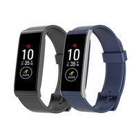 MyKronoz ZeFit 4 HR Activity and Heart Rate Tracker Black and Blue Bundle