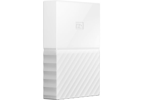 WD 4TB My Passport USB 3.0 Secure Portable Hard Drive, White